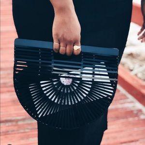 Cult Gaia Black Acrylic Ark Bag - small
